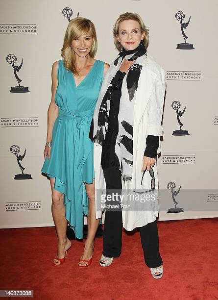 Sarah Brown and Judith Chapman arrive at 39th Daytime Entertainment Emmy Awards nominees reception held at SLS Hotel on June 14 2012 in Beverly Hills...