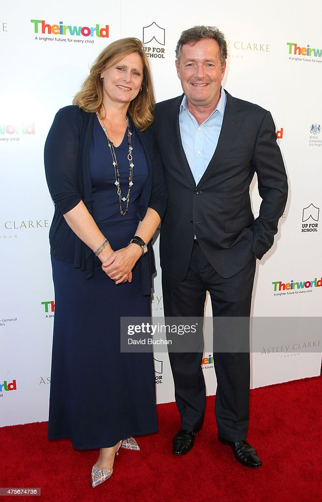 Sarah Brown and Piers Morgan attend the Theirworld & Astley Clarke summer reception in celebration of charitable partnership at the private residence of the British Consul General in Los Angeles on June 2, 2015 in Los Angeles, California.