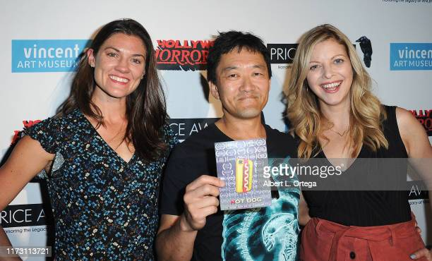 Sarah Brown Carter TJ Yoshizaki and Hilary Barraford attend the Premiere Of Exorcism At 60000 Feet as part of Hollywood Horrorfest held at Mayflower...