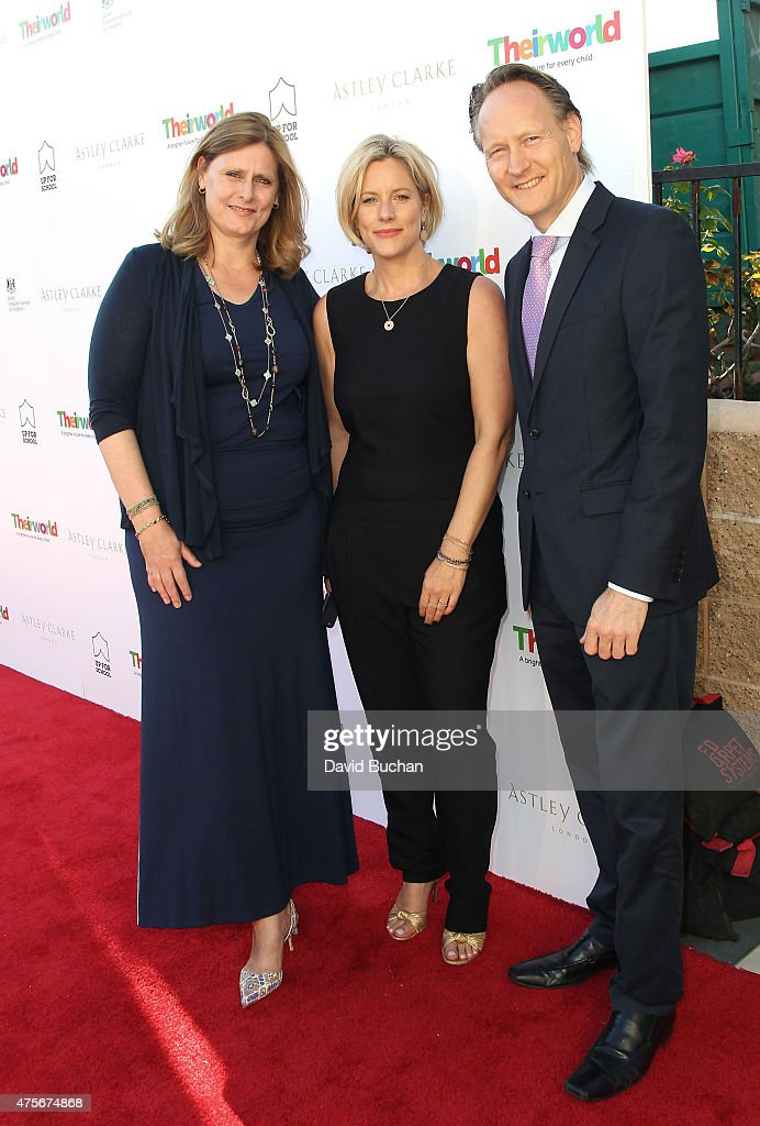 Sarah Brown founder of Theirworld, Bec Astley Founder of Astley Clarke and British Consul General Chris O'Connor attend the Theirworld & Astley Clarke summer reception in celebration of charitable partnership at the private residence of the British Consul General in Los Angeles on June 2, 2015 in Los Angeles, California.
