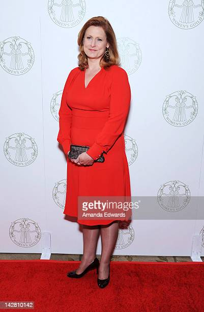 Sarah Brown honoree and wife of former UK Prime Minister Gordon Brown arrives at the Women's Guild of CedarsSinai Annual Spring Luncheon at the...
