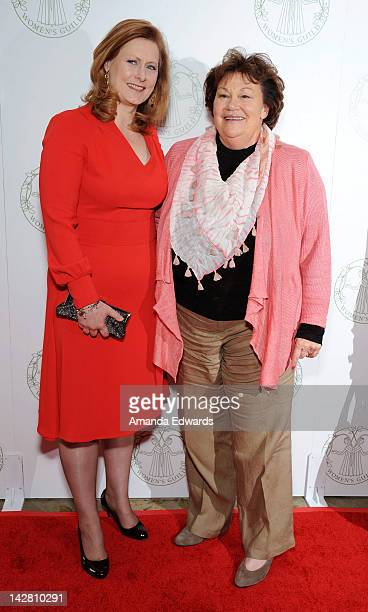 Sarah Brown honoree and wife of former UK Prime Minister Gordon Brown and Melinda Wayne Munoz daughter of actor John Wayne attend the Women's Guild...