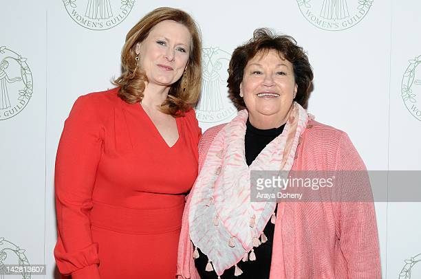 Sarah Brown honoree and wife of former UK Prime Minister Gordon Brown and Melinda Wayne Munoz daughter of actor John Wayne arrive at the Women's...