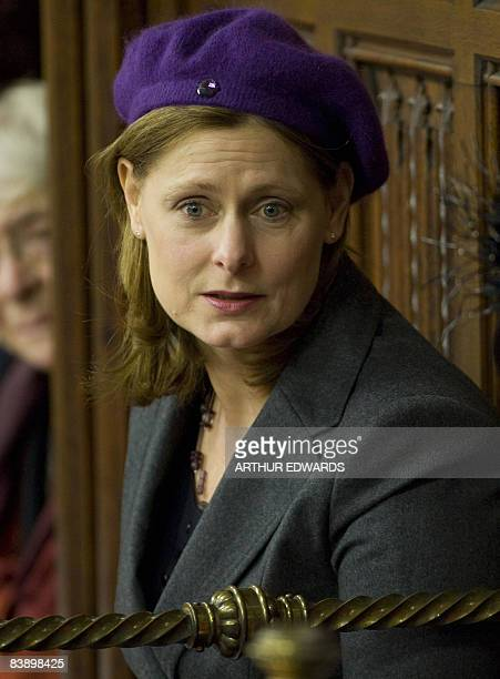 Sarah Brown wife of British Prime Minister Gordon Brown is pictured during the State Opening of Parliament in London on December 3 2008 Queen...