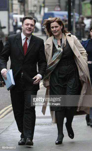 Sarah Brown wife of Prime Minister Gordon Brown and Schools Secretary Ed Balls arrive at a 'relationships summit' at Church House London