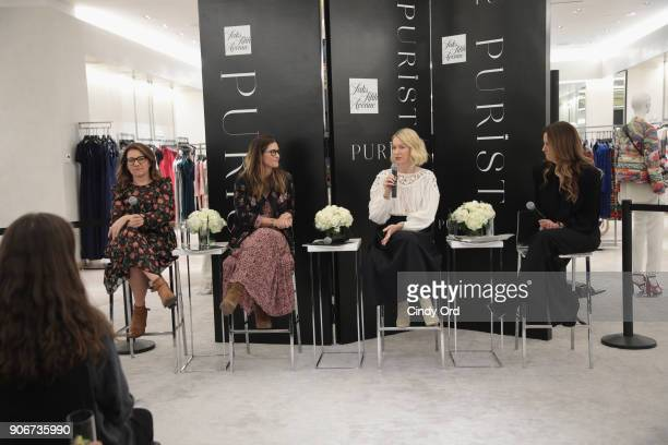 Sarah Bryden-Brown, Larissa Thomson, Naomi Watts and Cristina Cuomo speak during Wellness panel discussion hosted by Saks Fifth Avenue and Purist on...
