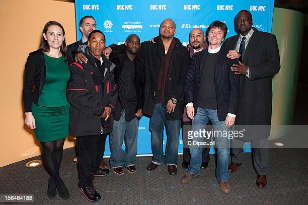 Sarah Burns David McMahon Korey Wise Antron McCray Kevin Richardson Raymond Santana Ken Burns and Yusef Salaam attend the 2012 NYC Doc Festival...