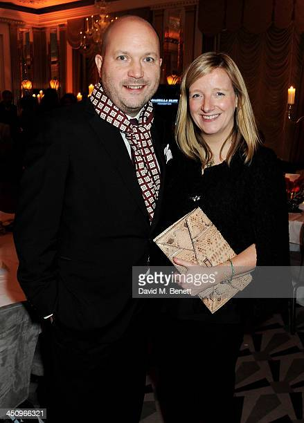 Sarah Burton and husband David attend the Isabella Blow Fashion Galore charity dinner hosted by the Isabella Blow Foundation at Claridges Hotel on...