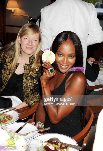 Sarah Burton and Naomi Campbell attend as Naomi Campbell hosts an Olympic Celebration Dinner in partnership with Fashion For Relief Interview...
