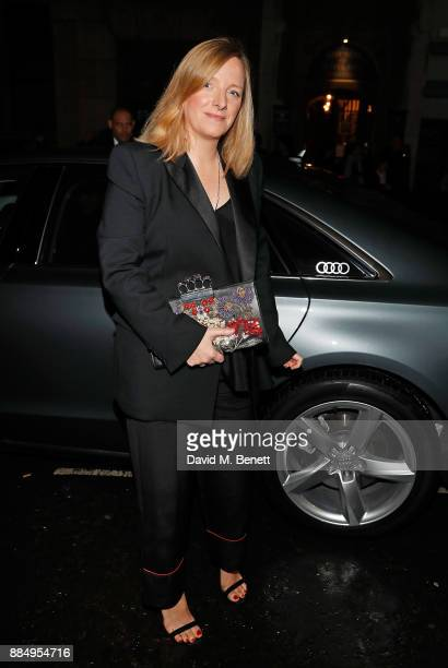 Sarah Burton arrives in an Audi at the Evening Standard Theatre Awards at Theatre Royal on December 3 2017 in London England