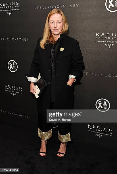 Sarah Burton attends a VIP screening of the awardwinning documentary Sonita hosted by FrancoisHenri Pinault Salma HayekPinault and Stella McCartney...