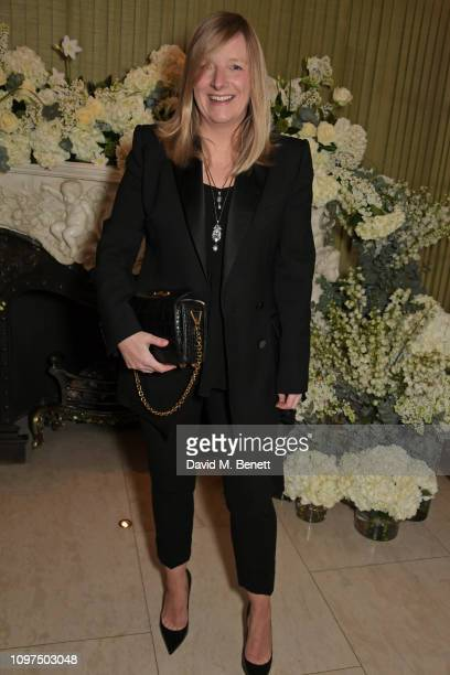 Sarah Burton attends the British Vogue and Tiffany & Co. Celebrate Fashion and Film Party at Annabel's on February 10, 2019 in London, England.