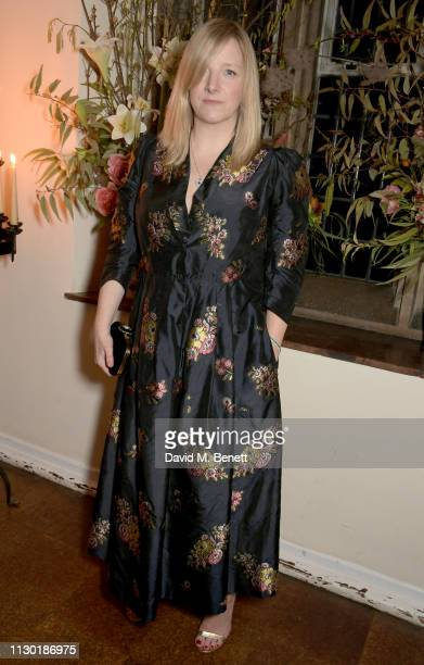 Sarah Burton attends the Francois-Henri Pinault and Sarah Burton dinner In celebration of the Alexander McQueen Old Bond Street Flagship Store on...