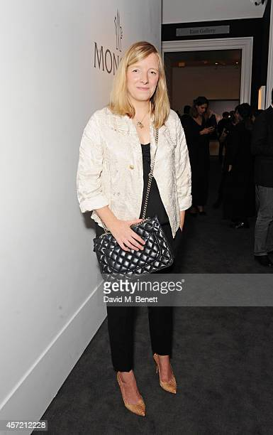 "Sarah Burton attends the private view of ""Monuments"" by Fabien Baron hosted by Montcler at Sotheby's on October 14, 2014 in London, England."