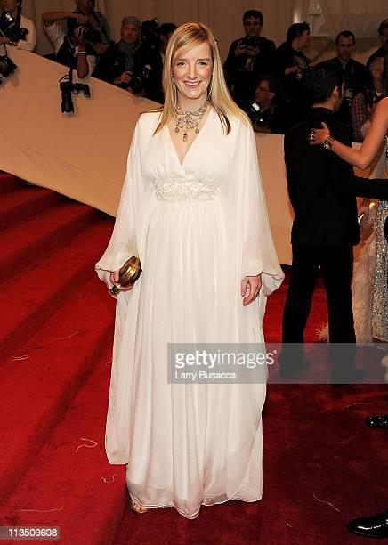 "Sarah Burton, Creative Director of Alexander McQueen attends the ""Alexander McQueen: Savage Beauty"" Costume Institute Gala at The Metropolitan Museum..."