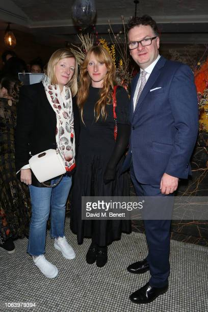 Sarah Burton Molly Goddard and Ewan Venters attend a VIP dinner hosted by Fortnum Mason and Sarabande The Lee Alexander McQueen Foundation to...