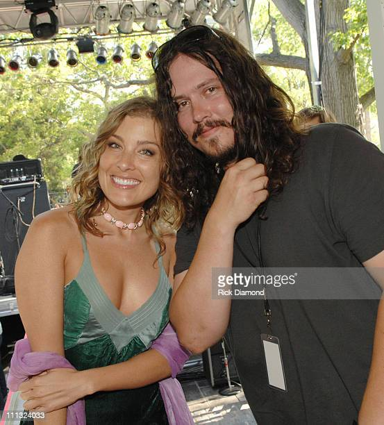 Sarah Buxton and John Paul White during 9th Annual Nashville Chapter Grammy Block Party at Wedgewood 19th in NASHVILLE TN United States