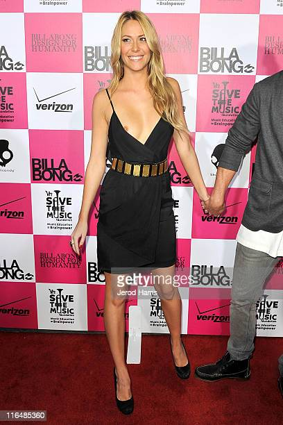 Sarah Carroll has a wardrobe malfunction on the red carpet at Billabong's 5th annual design for humanity benefit on June 15, 2011 in Hollywood,...