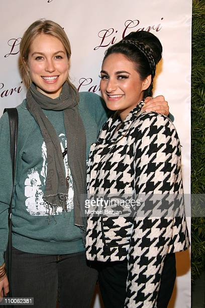 Sarah Carter and Jazmin Whitley during Li Cari Spring 2007 Unveiled February 9 2007 at Diane Merrick's Boutique in Los Angeles CA United States