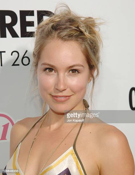 Sarah Carter during Undiscovered Los Angeles Premiere Arrivals at Egyptian Theater in Hollywood California United States