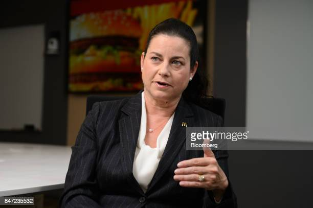 Sarah Casanova president and chief executive officer of McDonald's Holdings Co Japan Ltd speaks during an interview in Tokyo Japan on Wednesday Sept...