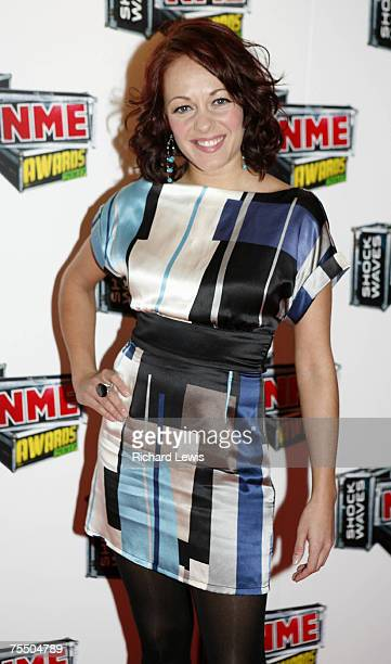 Sarah Cawood arrives at the Shockwaves NME Awards 2007 at the Hammersmith Palais in London United Kingdom