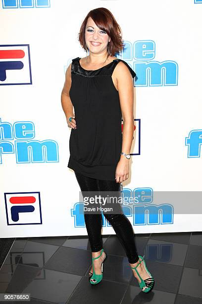 Sarah Cawood attends 'The Firm' UK premiere held at the Vue West End on September 10, 2009 in London, England.