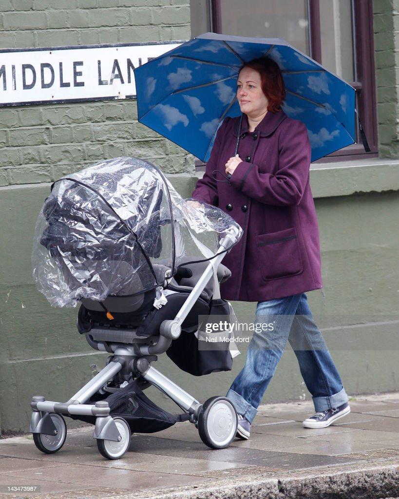 Sarah Cawood Sighting In London - April 27, 2012