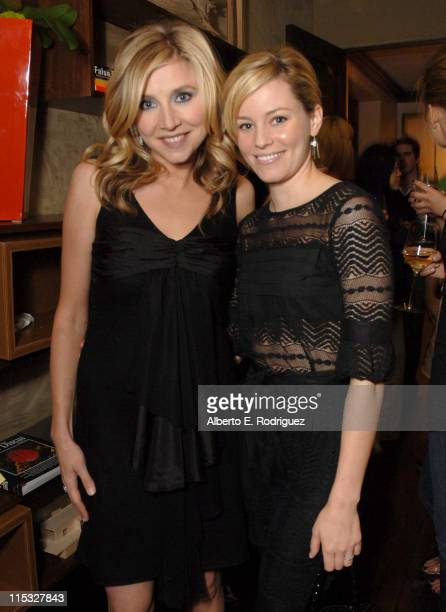 Sarah Chalke and Elizabeth Banks during Esquire House and Johnnie Walker Blue Host Scrubs Season Six Celebration Inside at Esquire House 360 in...