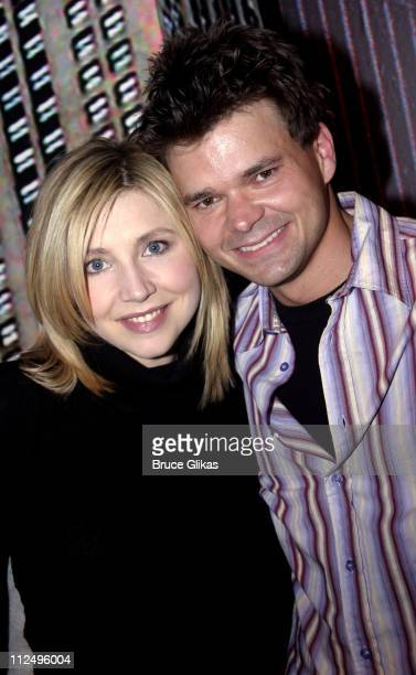 Sarah Chalke and Hunter Foster during Sarah Chalke of Scrubs Joins Modern Orthodox OffBroadway at Dodger Stages Theater in New York City New York...