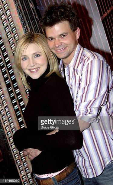 """Sarah Chalke and Hunter Foster during Sarah Chalke of """"Scrubs"""" Joins """"Modern Orthodox"""" Off-Broadway at Dodger Stages Theater in New York City, New..."""