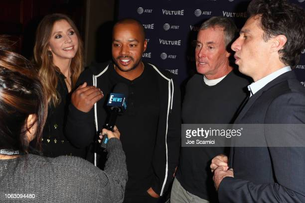 Sarah Chalke Donald Faison John C McGinley and Zach Braff attend 'Scrubs Reunion' during Vulture Festival presented by ATT at Hollywood Roosevelt...