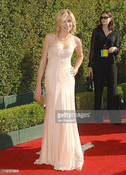Sarah Chalke during 57th Annual Primetime Creative Arts EMMY Awards - Arrivals & Red Carpet at Shrine Auditorium in Los Angeles, California, United...