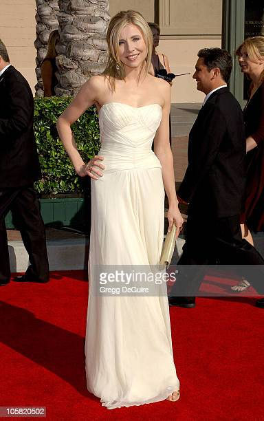 Sarah Chalke during 58th Annual Creative Arts Emmy Awards - Arrivals at Shrine Auditorium in Los Angeles, California, United States.
