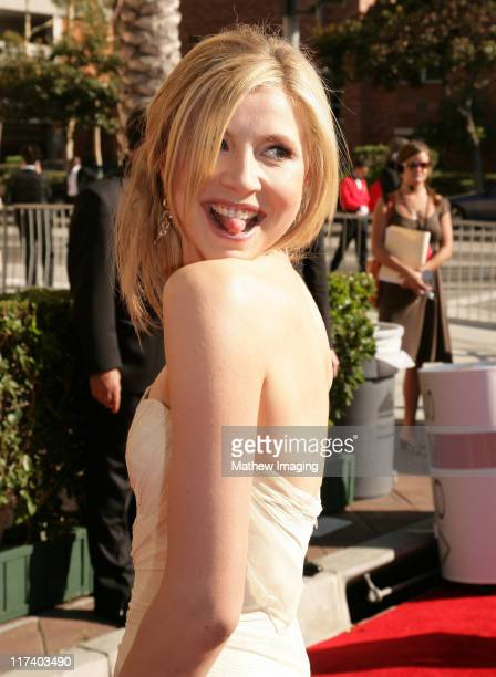 Sarah Chalke during 58th Annual Creative Arts Emmy Awards Red Carpet at The Shrine Auditorium in Los Angeles California United States