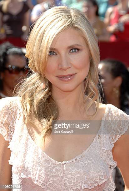 Sarah Chalke during 58th Annual Primetime Emmy Awards Arrivals at Shrine Auditorium in Los Angeles California United States