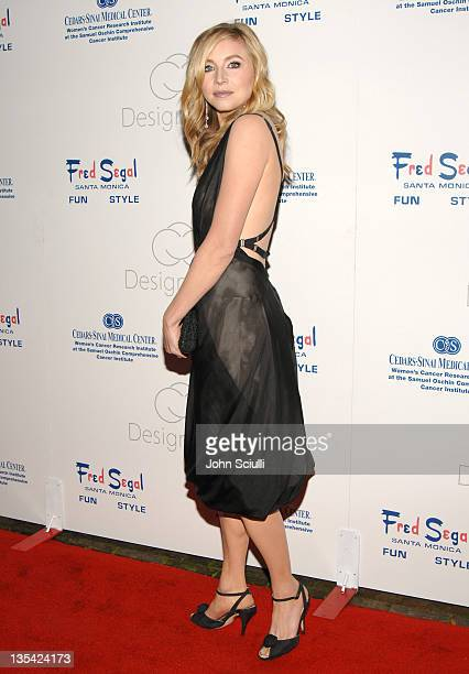 Sarah Chalke during Fred Segal and the CedarsSinai Medical Center Women's Cancer Research Institute Host Design A Cure Arrivals at Private Estate in...