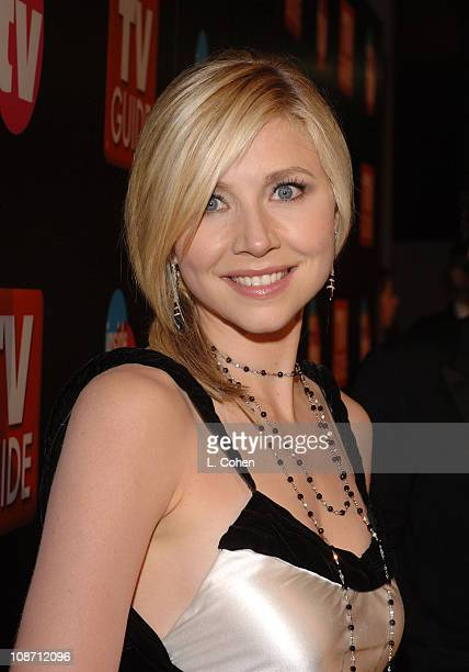 Sarah Chalke during The 57th Annual Emmy Awards TV Guide and Inside TV After Party Red Carpet at Roosevelt Hotel in Hollywood California United States