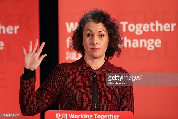 Sarah Champion Shadow Minister for Women and Equalities speaks during a rally at the Emmanuel Centre on December 15 2016 in London England Mr Corbyn...