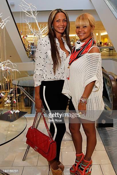 Sarah Chapman and Misa Hylton attend the Simone I Smith Trunk Show at Neiman Marcus Atlanta on May 10 2012 in Atlanta Georgia