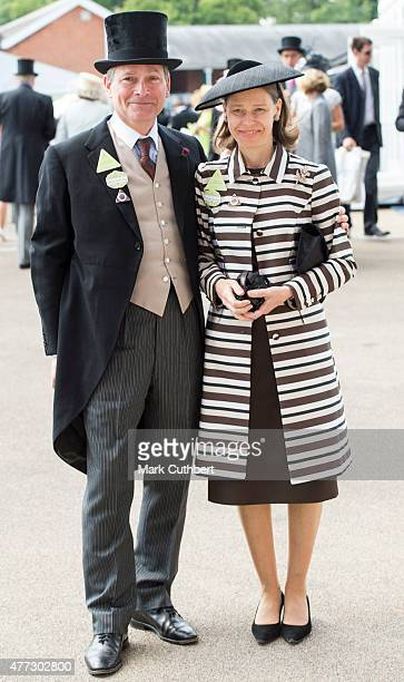 Sarah Chatto and Daniel Chatto on day 1 of Royal Ascot at Ascot Racecourse on June 16 2015 in Ascot England