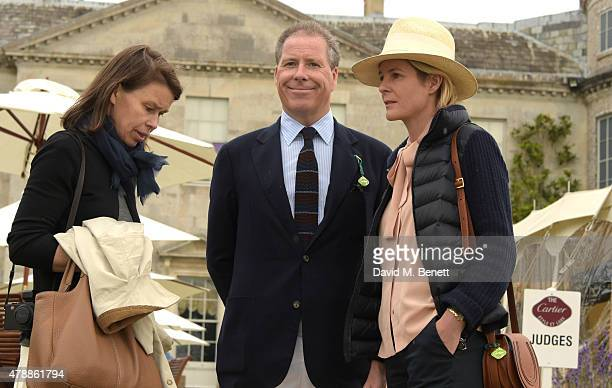 Sarah Chatto David Linley and Serena Armstrong Jones attend the Carter Style Luxury Lunch at the Goodwood Festival of Speed on June 28 2015 in...