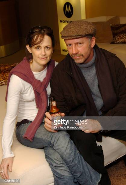 Sarah Clarke and Xander Berkeley at Motorola display