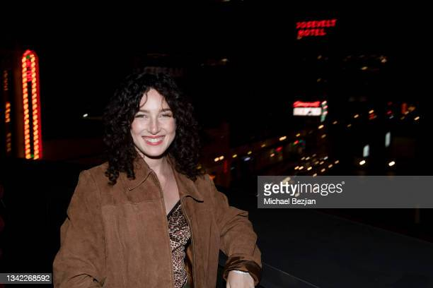 Sarah Cohen arrives at 17th Annual Oscar-Qualifying HollyShorts Film Festival Opening Night at Japan House Los Angeles on September 23, 2021 in Los...