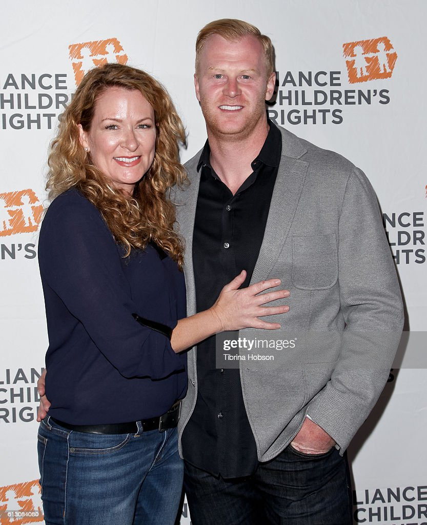 Sarah Colonna and Jon Ryan attend the 7th annual Right To Laugh Benefit at Avalon on October 6, 2016 in Hollywood, California.