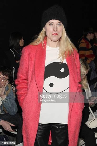 Sarah Conley Editor for Cosmopolitan Magazine attends the ICB By Prabal Gurung fashion show MercedesBenz Fashion Week Fall 2014 at Eyebeam on...