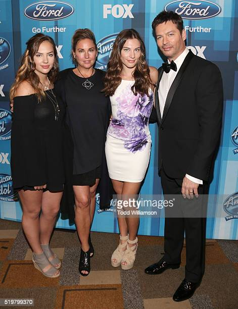 Sarah Connick Jill Goodacre Georgia Connick and recording artist Harry Connick Jr attend FOX's American Idol Finale For The Farewell Season at Dolby...