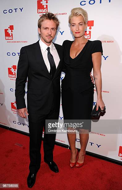 Sarah Connor and guest attend DKMS' 4th Annual Gala Linked Against Leukemia at Cipriani 42nd Street on April 29 2010 in New York City