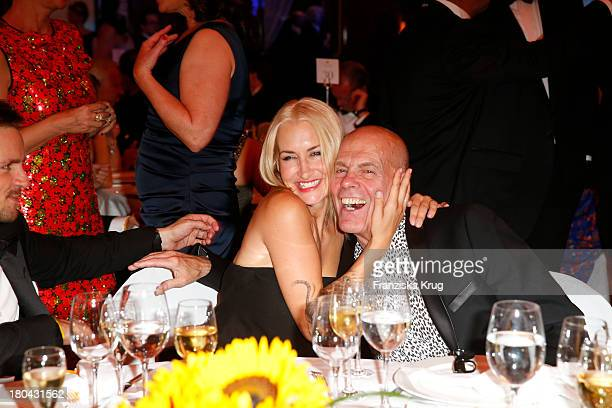 Sarah Connor and Peter Harf attends the Dreamball 2013 charity gala at Ritz Carlton on September 12, 2013 in Berlin, Germany.