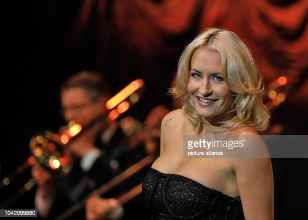Sarah Connor performs with Andrej Hermlin and his Swing Dance Orchestra at Admiralspalast in BerlinGermany 29 November 2013 Photo Roland Popp  ...